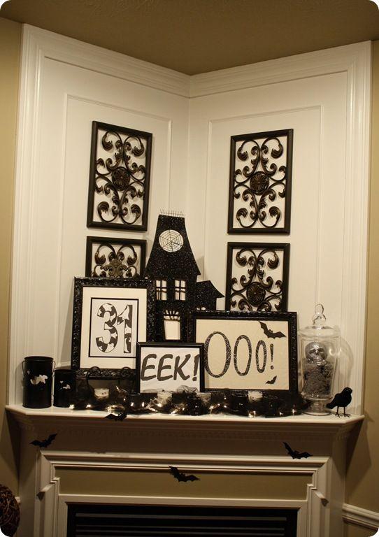 another halloween mantel - Halloween Mantel Decorations