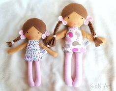 Baby first doll Fabric Doll Hand Made Rag dolls Textile by SenArt1