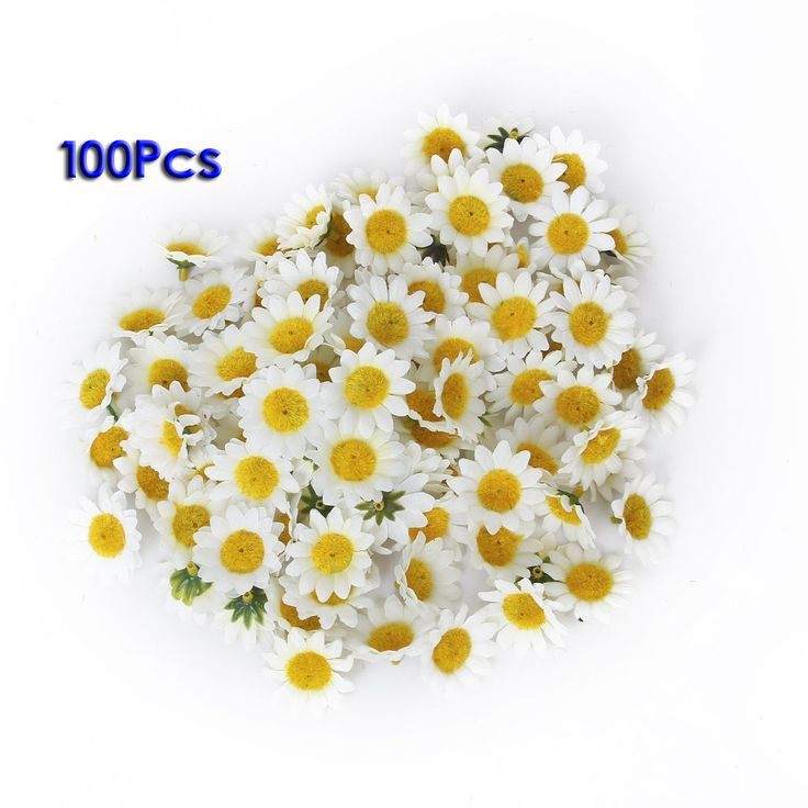 FJS!Approx 100pcs Artificial Gerbera Daisy Flowers Heads for DIY Wedding Party