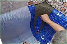 Облицовка чугунной ванны мозаикой.Часть 2