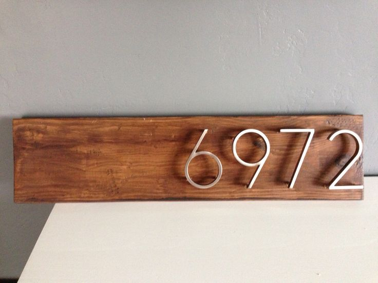 Rustic Wood Address Plaque with Floating Number- Industrial - Modern -Shabby Chic Style by undeviatedlogic on Etsy https://www.etsy.com/listing/246692047/rustic-wood-address-plaque-with-floating