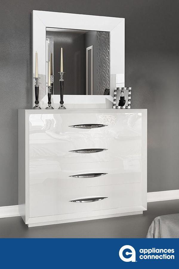 Esf Drawer White Dresser With Mirror Dresser With Mirror White