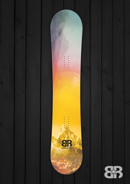 Space Mountains - Snowboard wrap By Board Rockers