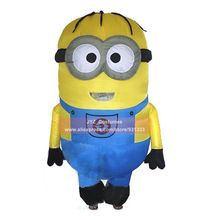 US $49.80 Inflatable Adult Minion Costume Halloween Cosplay Party Despicable Me Minion Costume Mascot Air blow Up Outfits Fancy Dress. Aliexpress product
