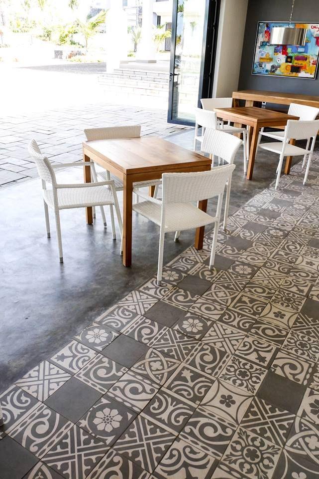 Cemcrete's Colour Hardener cement floor application by CEMTECH
