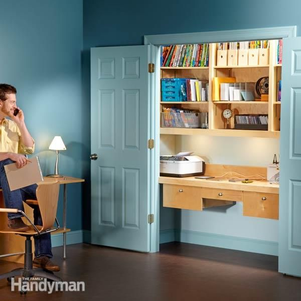 How To Turn A Closet Into An Office Home Office Closet
