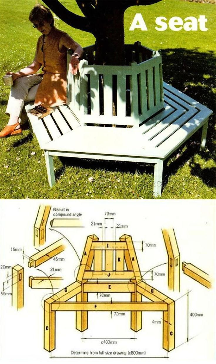 Outdoor furniture plans - Circular Tree Bench Plans Outdoor Furniture Plans Projects Woodarchivist Com