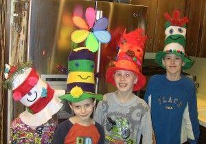 Crazy Dr. Seuss Hats - http://susanevans.org/blog/crazy-dr-seuss-hats/