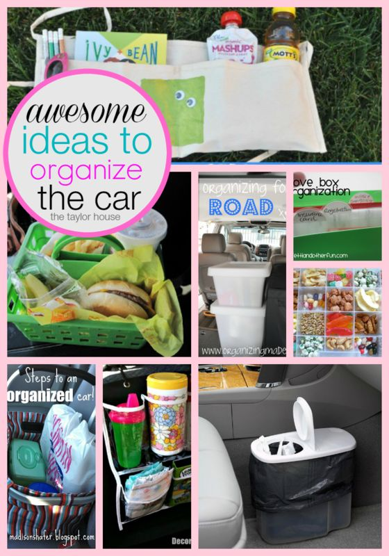 Don't let your car be overrun with clutter and mess! These awesome ideas to organize the car are sure to help you keep things neat and tidy!