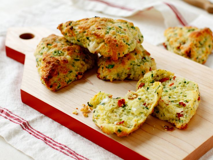 Tomato, spinach & cheddar scones: make them with one of Cabots sharp or spicy cheeses for a savory side or light meal with a poached egg tucked inside.