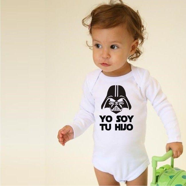 Body Darth Vader Star Wars Body Bebe | Camiseta Bebe Yo soy tu hijo | Camiseta Darth Vader Bebe