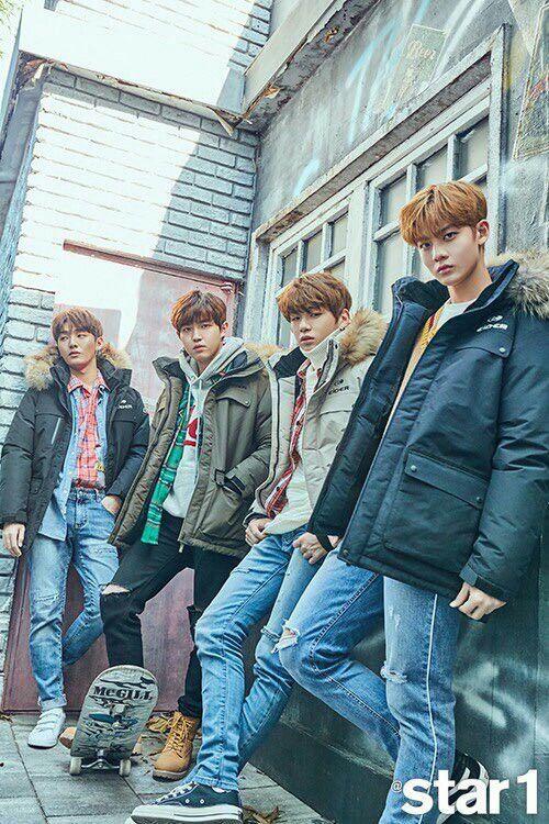 Jisung, jaehwan, daniel, Jinyoung