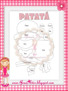 Graci Artes: Molde Patati e Patatá de presente