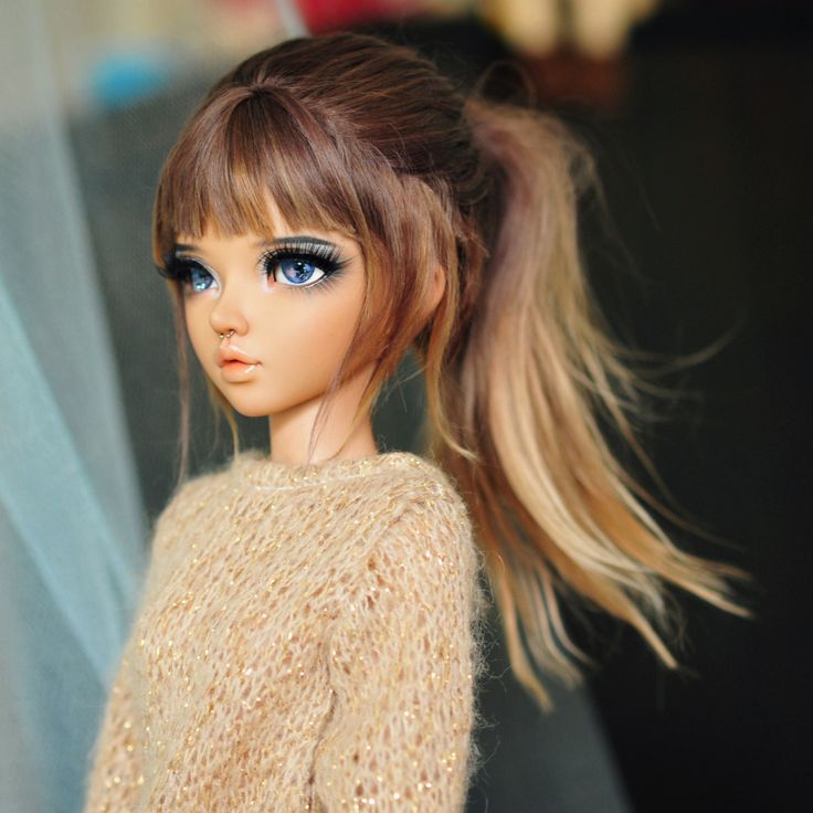 Bjd ponytail ***Wig by APoemWithNoWords on Etsy***
