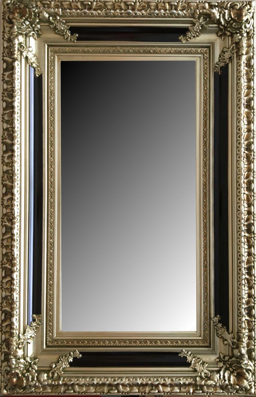 Baños Estilo Barroco:Espejo biselado estilo clásico barroco con marco en madera Modelo
