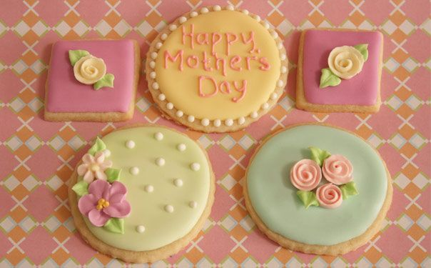 Jillbeths Cookie Studio Custom Decorated Cookie: mother's day