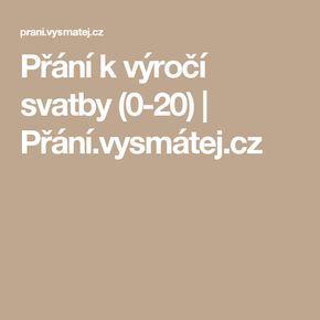 Přání k výročí svatby (0-20) | Přání.vysmátej.cz