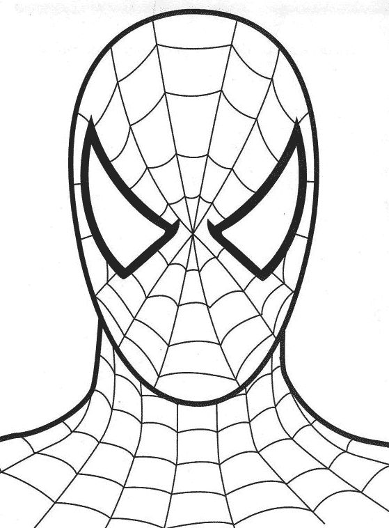 coloriage Tête de Spiderman