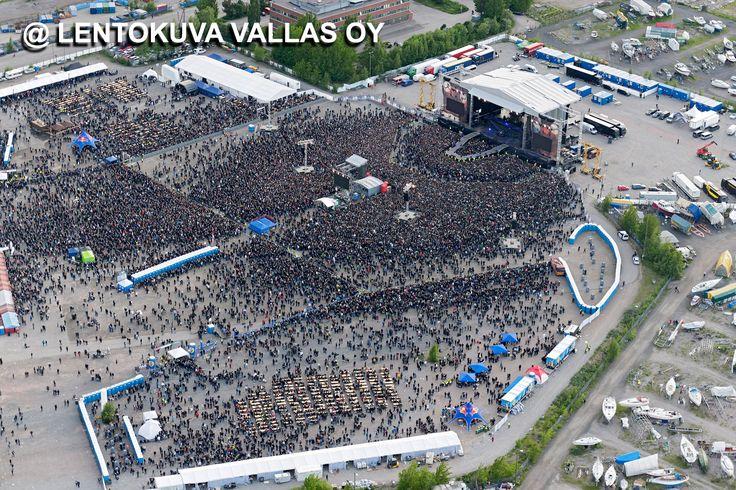 Helsinki, Kalasatama: Sonisphere-festivaalit, Metallican konsertti Ilmakuva: Lentokuva Vallas Oy