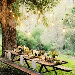 Another decoration idea to host your wedding party at your backyard | Find more great works from Karang Putih Villa in Bridestory.com.id