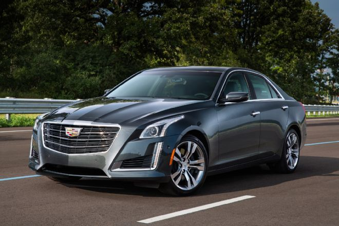 The 2016 Cadillac CTS and ATS sedans gain a new V-6 engine, along with engine start/stop and an eight-speed automatic transmission to improve fuel economy.