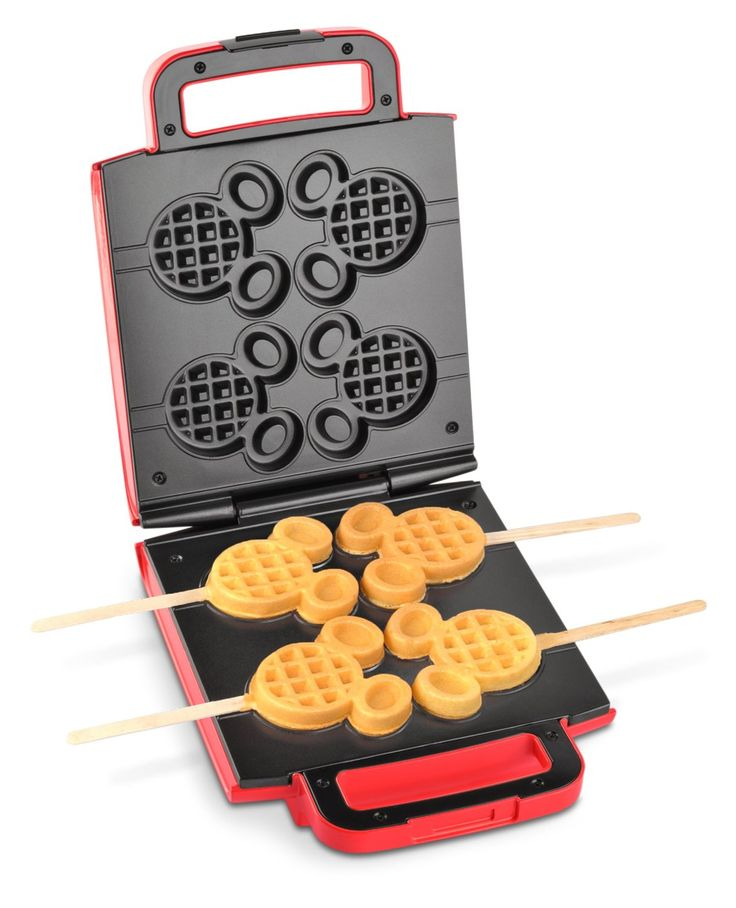 Amazon.com: Disney DCM-41 Classic Mickey Waffle Stick Maker, Red: Kitchen & Dining