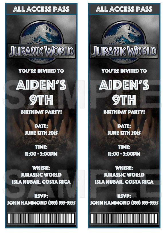 jurassic world invitations color by eventfulthinkingca on
