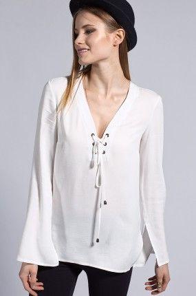 Answear - Bluzka sznurowany dekolt Shake it Off