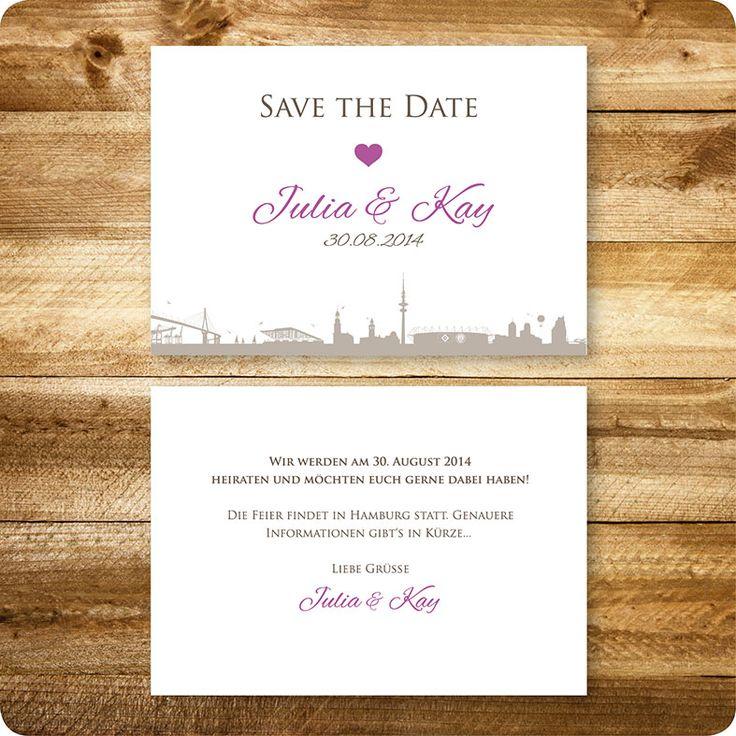 Save The Date Karte Maritim, Hamburg, Einladung Für Hochzeit, Individuell  Designed By · Maritim HamburgEinladungskarten Hochzeit