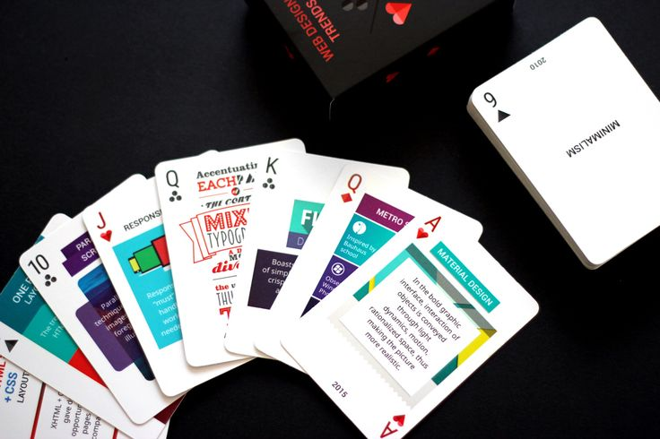 Learn Web Design Trends Playing Cards! Find Out How to Get your Deck