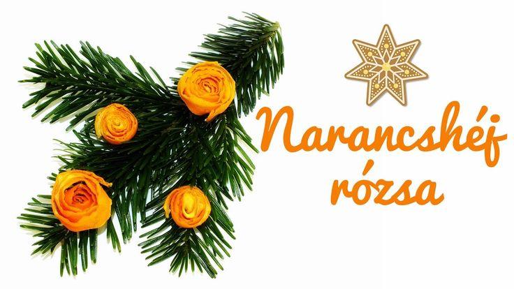 Narancshéj rózsa - Karácsonyi dekorációs ötlet