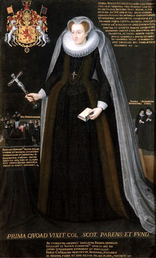 The Blairs Memorial Portrait of Mary, Queen of Scots. I have never seen this version of her famous execution portrait