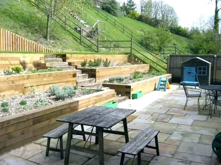 Small Backyard With Steep Hill Landscaping Ideas Sloped Backyard