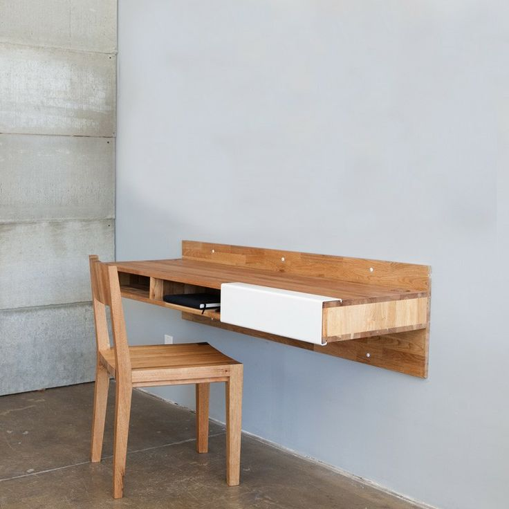 Wall-Mounted Desk...I like this. Def a space saver