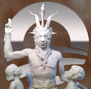 "Satanists and Democrats Compromise on Oklahoma City Statue ""A satanic group commissioned a statue of the devil, raising money to pay a sculptor who it won't identify, as a way of protesting the Sooner State's placement of a Ten Commandments monument on the Statehouse lawn in Oklahoma City. The statue, being sculpted in a New York studio, is nearly complete, according to Lucien Greaves, spokesman for the Satanic Temple."" - looks like Obama"