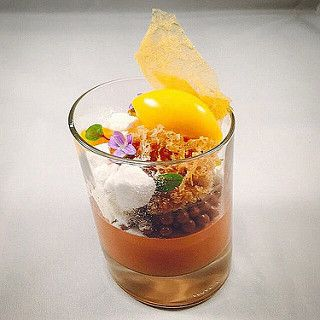 Chocolate mousse , chocolate crispy pearls, coconut rock, … | Flickr