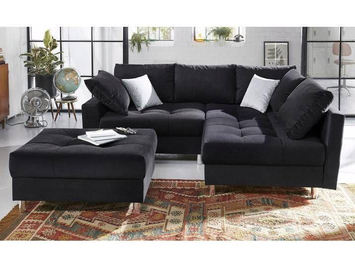 Collection Ab Eck Couch Schwarz Inkl Loser Zier Und Ruckenkissen Fsc Zertifiziert Ecksofa Sofa Polsterecke