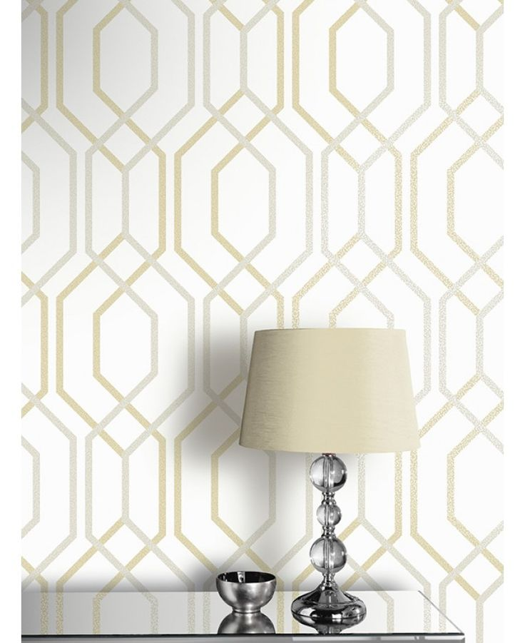 Arthouse Artemis Geometric Wallpaper - Gold 891900