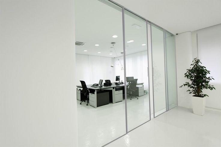 Mobila Office Sistem Usi Glisante din Profil Aluminiu cu Sticla Securizata Transparenta Albatros