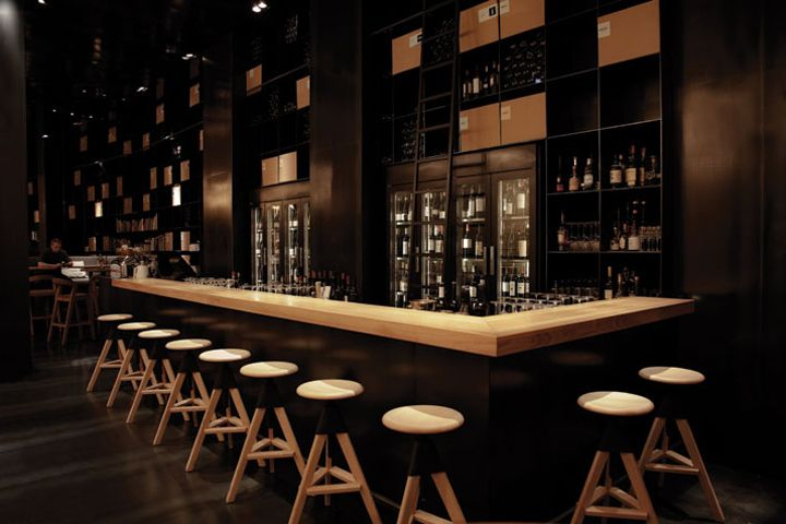 Hungarian wine bar interior design ideas project stoer for Restaurant interior designs ideas