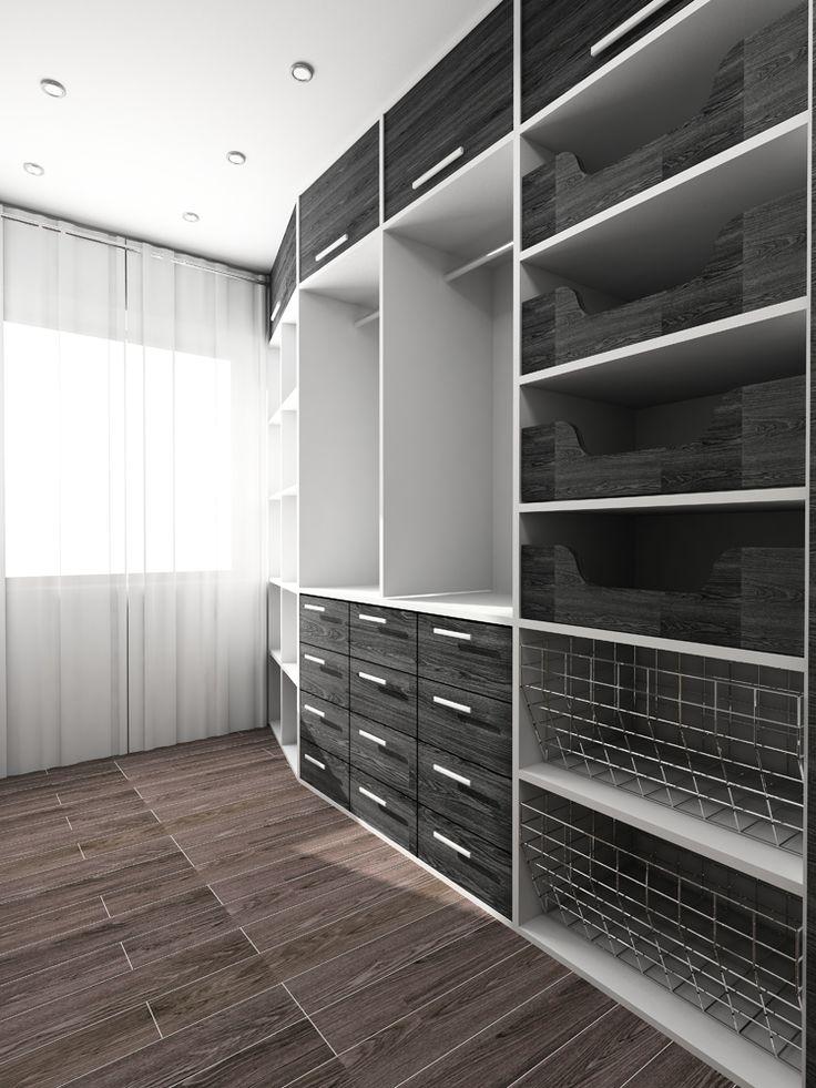 Open linear closet space