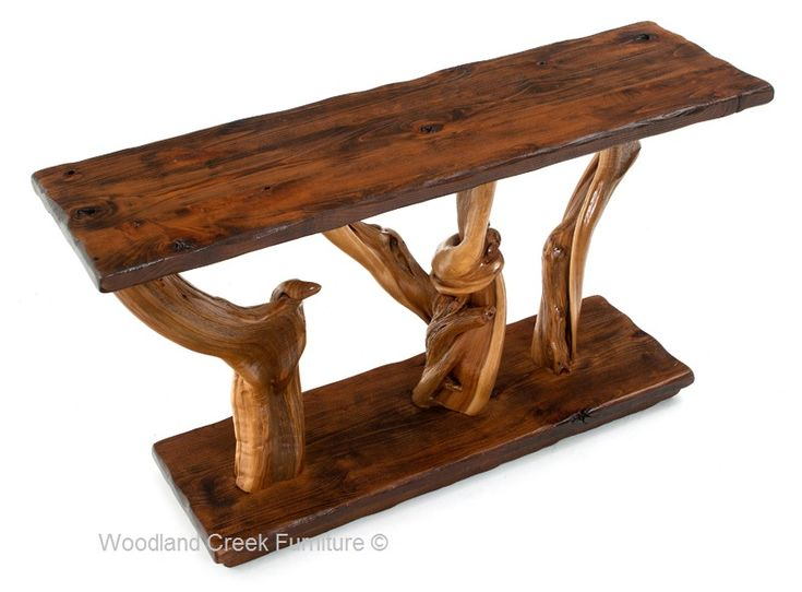 Handcrafted log furniture for cabin, lodge, western, ranch & mountain  decors. Woodland