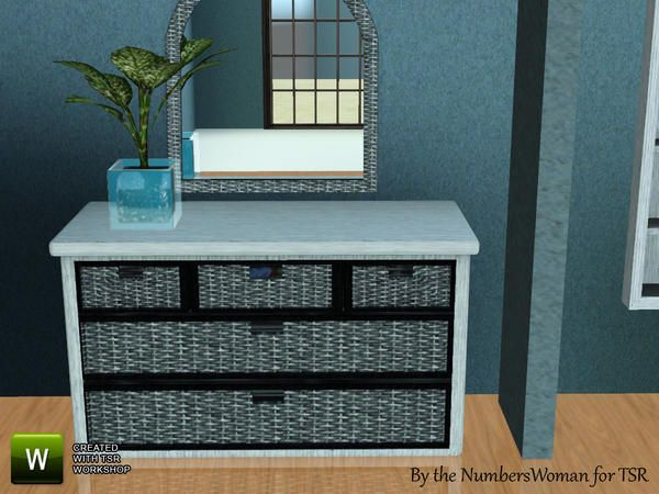 riccinumbers' Tropical Whicker Bedroom Dresser