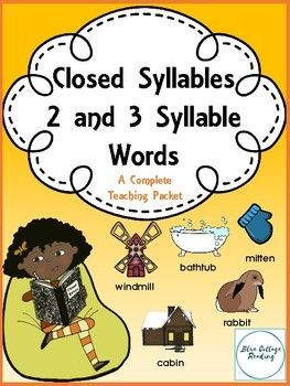 This teaching packet covers two and three syllable closed (short vowel) words. It makes a great supplement to an Orton Gillingham based reading program or a stand alone unit on reading and spelling 2-3 syllable words. It includes:Teaching NotesWord cardsPicture cardsSyllable puzzlesNotebook listsDictation wordsWords in columns formSentences for dictationSyllable counting practiceSyllable division instructions, teaching notes and practiceWorksheetsRoll and Read gameThis is a large packet of…