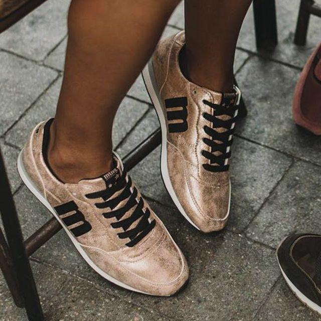 premium selection 6615b c16aa MUSTANG 69169 Zapatos de deporte de para mujer en color nude.  Características con cordones