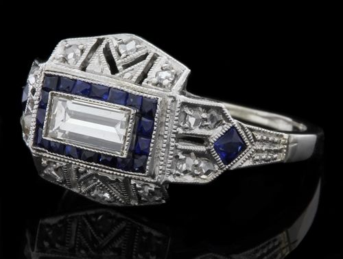 sapphire and diamond engagement rings from Delphi Antiques Jewellers Dublin