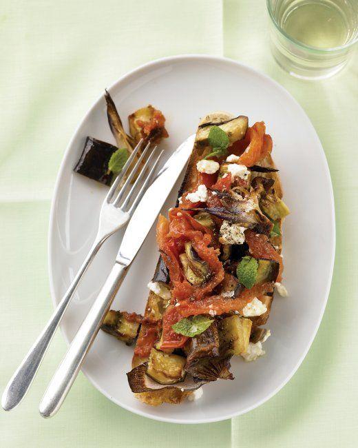 Eggplant & Mint Bruschetta