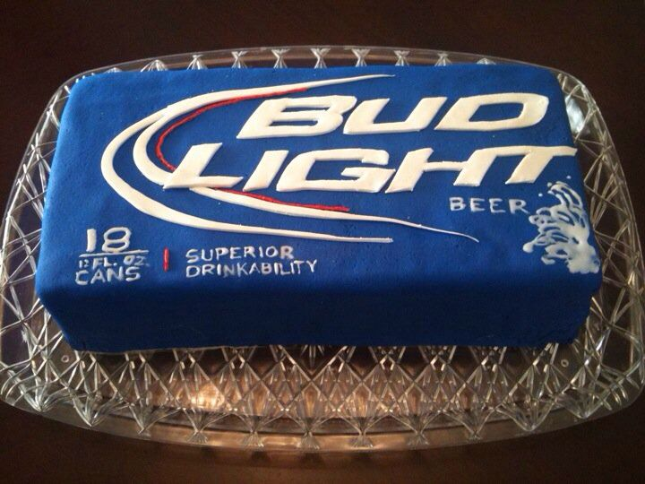 Budlight cake for the hubby.