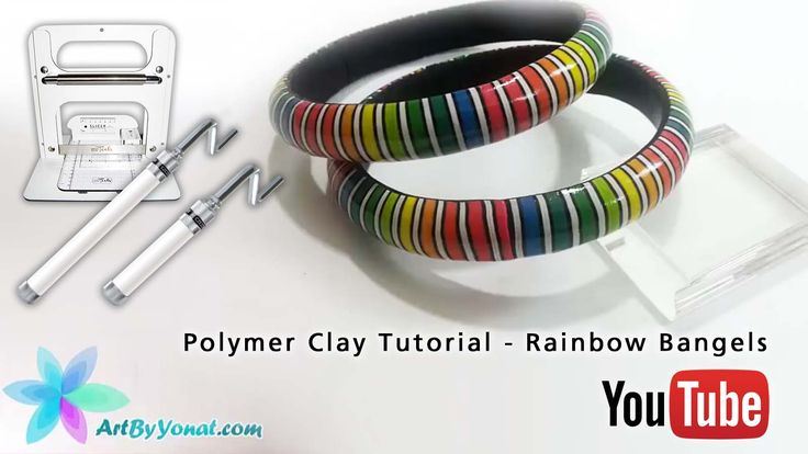 Czextruder and LC Slicer in Action: Polymer Clay Tutorial - Rainbow Bangels - video tutorial by Yonat Dascalu https://youtu.be/-WcZClytrHE