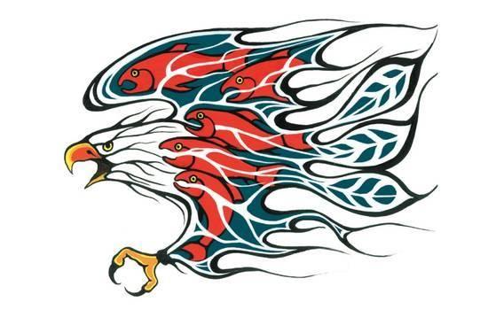 Salmon Run Lámina por Shelley Fletcher en Art.com